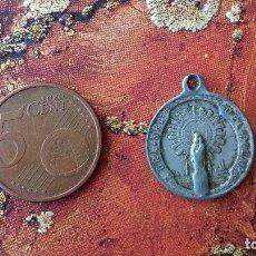 Antigüedades: MEDALLA VÍRGEN DEL PILAR Y SAGRADO CORAZÓN SACRATISIMO DE JESÚS. Lote 88647880