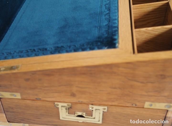 Antigüedades: Enorme Escribanía inglesa época Georgiana. Madera de roble. Circa 1810 - Foto 7 - 88741020