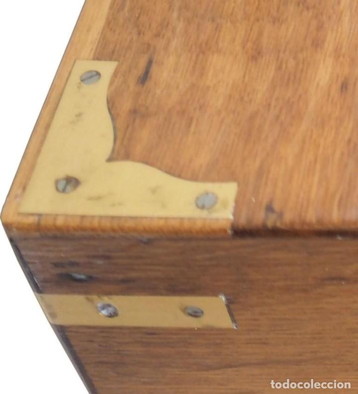 Antigüedades: Enorme Escribanía inglesa época Georgiana. Madera de roble. Circa 1810 - Foto 9 - 88741020