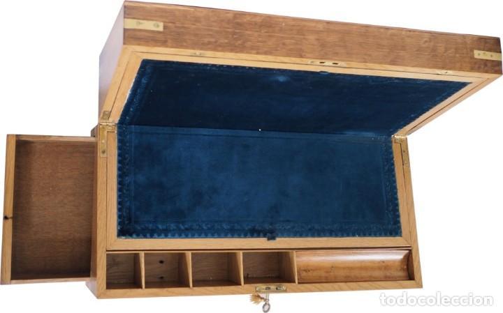 Antigüedades: Enorme Escribanía inglesa época Georgiana. Madera de roble. Circa 1810 - Foto 12 - 88741020