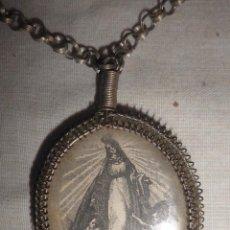 Antigüedades - ANTIGUO MEDALLON RELIGIOSO DE PLATA AÑO 1838. - 88748512