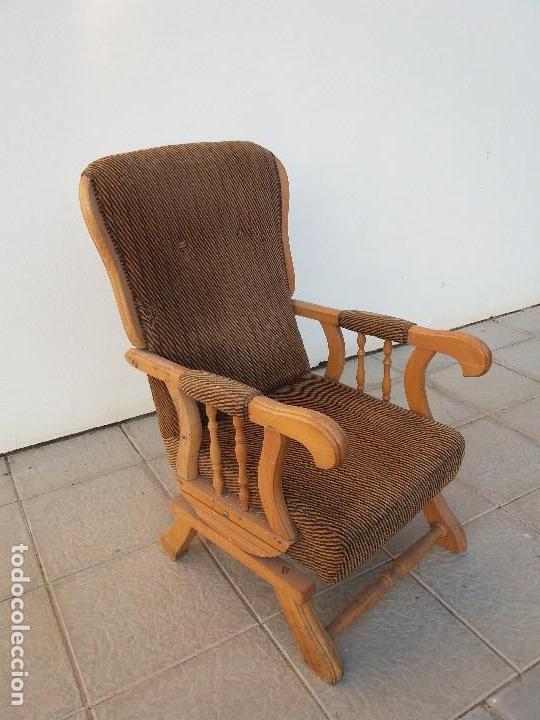 Antigua silla hamaca sill n antiguo mecedora o comprar sillones antiguos en todocoleccion - Butaca mecedora ...