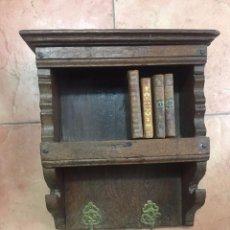 Antigüedades: PEQUEÑA REPISA-LIBRERÍA DE ROBLE DEL S.XVII. Lote 88788904