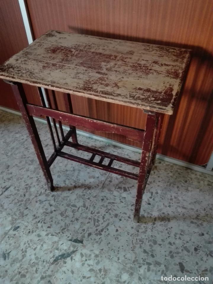 Antigua mesa auxiliar para restaurar alto 70 comprar - Mesas auxiliares antiguas ...