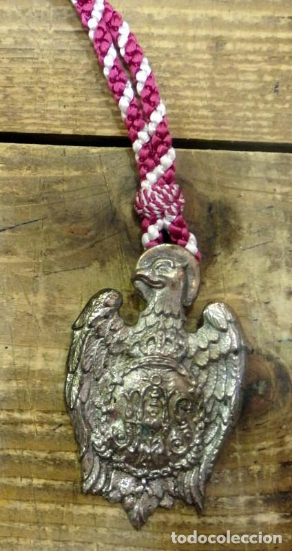 SEMANA SANTA DE SEVILLA,ANTIGUA MEDALLA CON CORDON HERMANDAD DE LAS SIETE PALABRAS, 60X90MM,RARISIMA (Antigüedades - Religiosas - Medallas Antiguas)