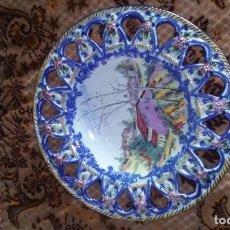 Antigüedades: ESPECTACULAR PLATO PINTADO A MANO. EDICION LIMITADA.. Lote 88853152