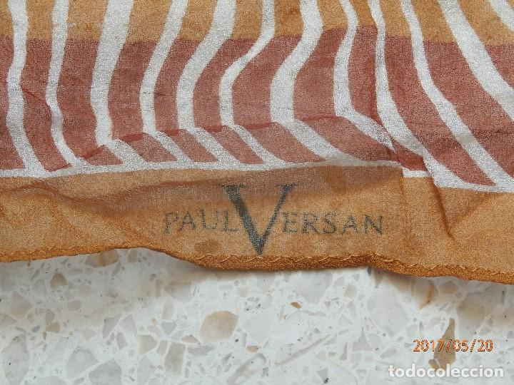 Antigüedades: PAÑUELO de PAUL VERSAN. SEDA 100% - Foto 3 - 88854480