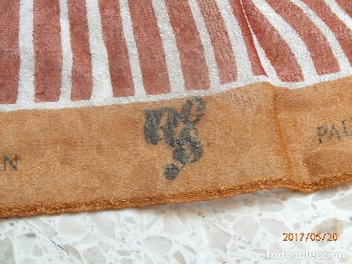 Antigüedades: PAÑUELO de PAUL VERSAN. SEDA 100% - Foto 4 - 88854480