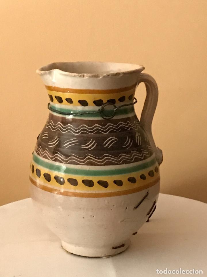 ANTIGUA JARRA CERÁMICA DE PUENTE DEL ARZOBISPO (TOLEDO). S.XIX (Antigüedades - Porcelanas y Cerámicas - Puente del Arzobispo )