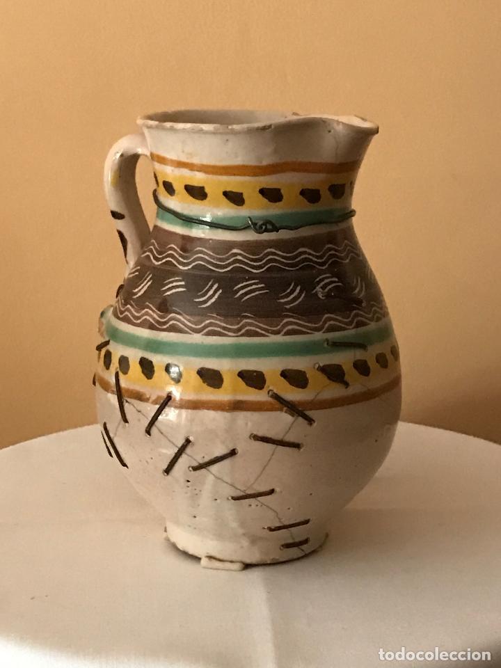 Antigüedades: ANTIGUA JARRA CERÁMICA DE PUENTE DEL ARZOBISPO (TOLEDO). S.XIX - Foto 3 - 88857712