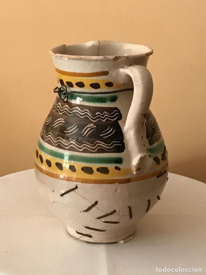 Antigüedades: ANTIGUA JARRA CERÁMICA DE PUENTE DEL ARZOBISPO (TOLEDO). S.XIX - Foto 4 - 88857712