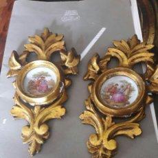 Antigüedades: PAREJA DE ANTIGUAS CORNUCOPIAS .. Lote 88870243