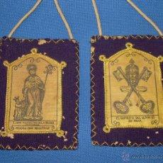 Antigüedades: ANTIGUO ESCAPULARIO DE SAN JOSE - MIDE CADA PARTE - 8X10 CM.. Lote 88881860