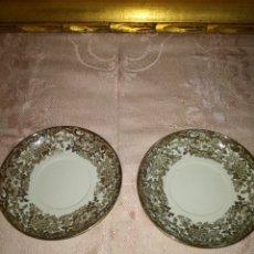 Antigüedades: PAREJA DE PLATITOS PICKMAN LA CARTUJA. Lote 88917092