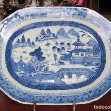 Antigüedades: PLATO BANDEJA FUENTE PORCELANA COMPAÑIA DE INDIAS. Lote 88919716