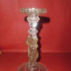 Antigüedades: MAGNIFICO ANTIGUO PORTAVELAS. Lote 88923668