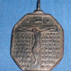 Antigüedades: ANTIGUA PRECIOSA MEDALLA CRUCIFIXIÓN CON LEYENDAS SIGLO XVII. Lote 88930644