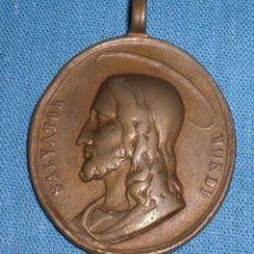 Antigüedades: ANTIGUA PRECIOSA MEDALLA SALVATOR MUNDI SIGLO XVII. Lote 88930804