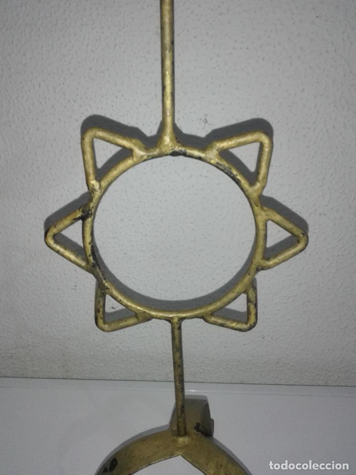 Antigüedades: precioso Portavelas de bronce con sol candelabro porta velas - Foto 6 - 88932776