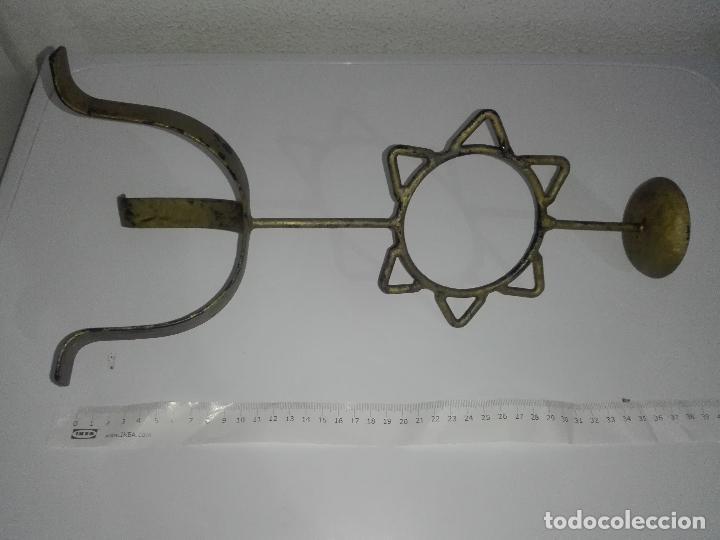 Antigüedades: precioso Portavelas de bronce con sol candelabro porta velas - Foto 10 - 88932776