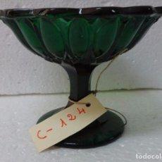 Antigüedades: FRUTERO ANTIGUO EN CRISTAL VERDOSO 5000 - 124. Lote 88945596