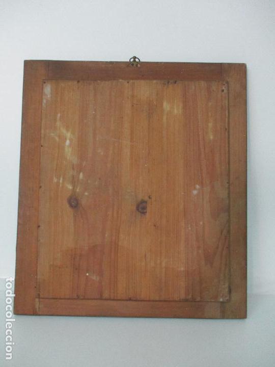 Antigüedades: Antiguo Espejo - Isabelino - Madera Jacarandá - Espejo de Época - 46 cm Ancho x 51,5 Altura - S. XIX - Foto 6 - 88947956