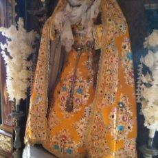 Antigüedades: FAJIN BORLAS DE ORO CANUTILLOS ORO ENTREFINO IDEAL SEMANA SANTA VIRGEN TAMAÑO CRISTO FAJIN CORDON . Lote 88975812