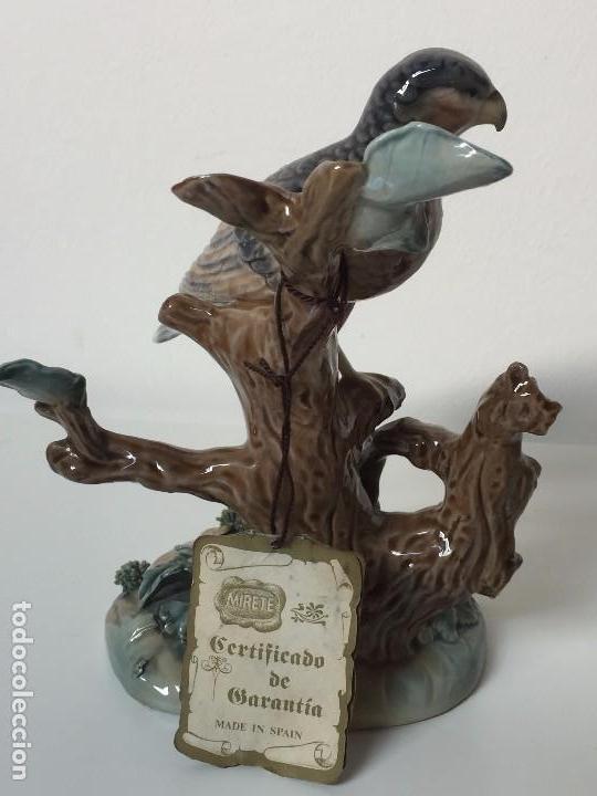 Antigüedades: FIGURA EN CERÁMICA J.A. MIRETE CON CERTIFICADO (MADE IN SPAIN) MOTIVO AVE - Foto 5 - 89027588