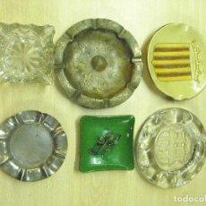 Antigüedades: LOTE 6 CENICEROS. Lote 53414935