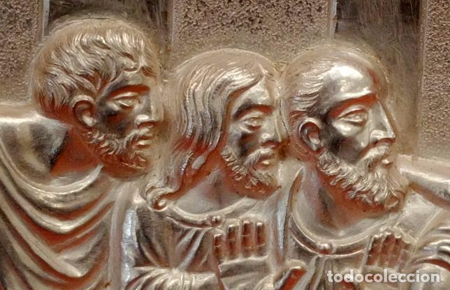 Antigüedades: JUAN ANTONI CASADESUS (Barcelona, act. 1ª mitad sig.xx) PLAFON DE LA SANTA CENA EN PLATA REPUJADA - Foto 3 - 89039992