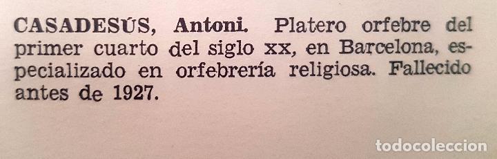 Antigüedades: JUAN ANTONI CASADESUS (Barcelona, act. 1ª mitad sig.xx) PLAFON DE LA SANTA CENA EN PLATA REPUJADA - Foto 14 - 89039992