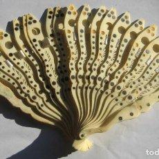 Antigüedades: ANTIGUO ABANICO -14 CM - 16 VARILLAS. Lote 89043404