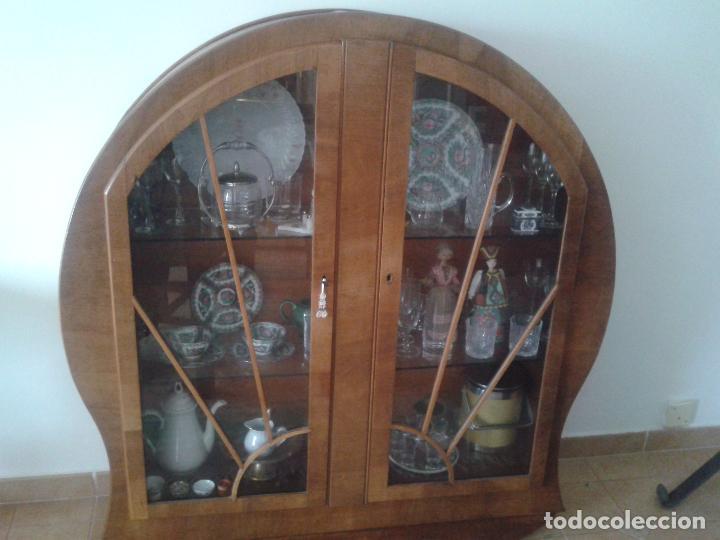 Antigüedades: Vitrina Art Decó años 30 - Foto 4 - 78240301