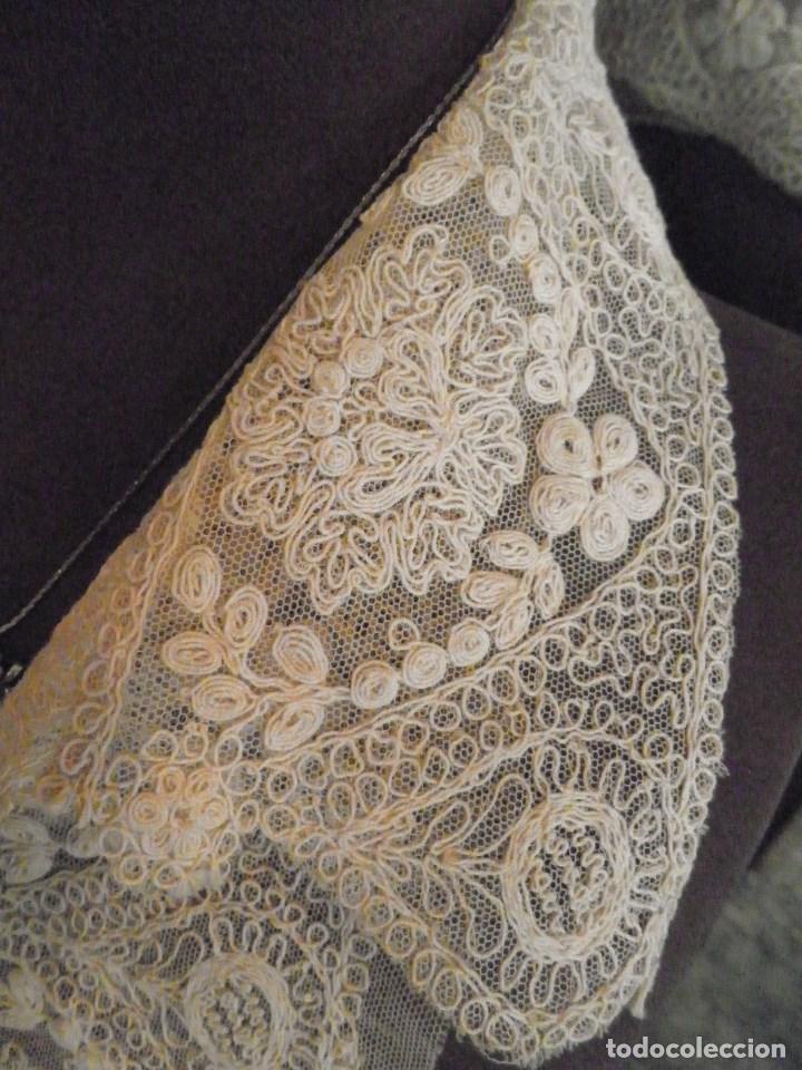 antiguo cuello con pechera para vestido de novi - comprar en