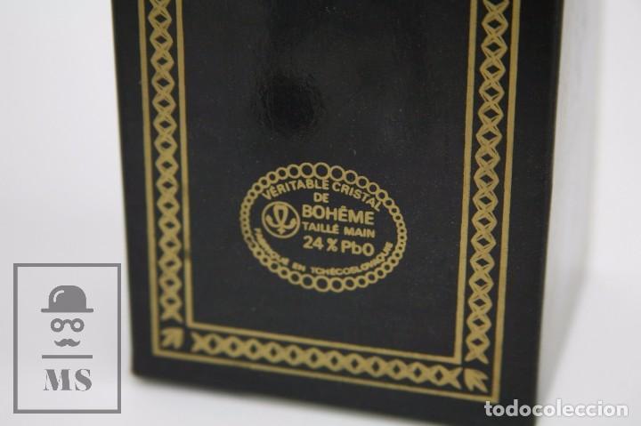Antigüedades: Campanilla / Campana de Cristal de Bohemia - Tallado a Mano, 24% PbO - Checoslovaquia - Foto 3 - 89056960