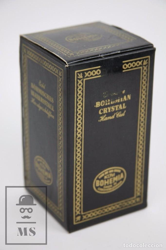 Antigüedades: Campanilla / Campana de Cristal de Bohemia - Tallado a Mano, 24% PbO - Checoslovaquia - Foto 5 - 89056960