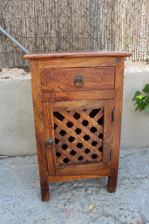 Antigüedades: ANTIGUA MESA MESITA O MESILLA AUXILIAR EN MADERA NOBLE Casa rustica o de madera - Foto 2 - 89076860