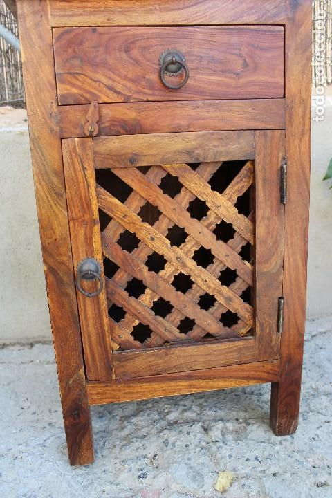 Antigüedades: ANTIGUA MESA MESITA O MESILLA AUXILIAR EN MADERA NOBLE Casa rustica o de madera - Foto 3 - 89076860