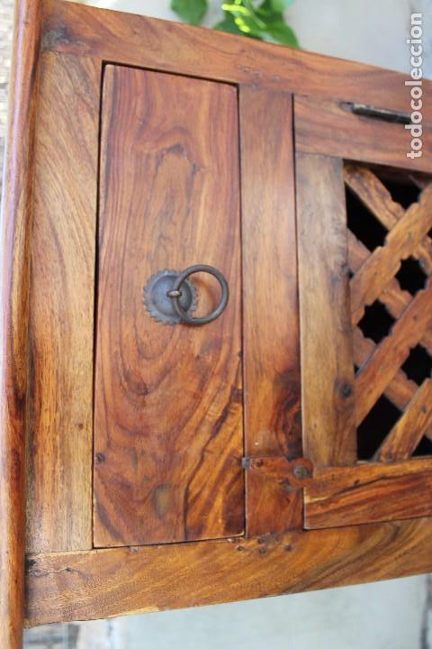 Antigüedades: ANTIGUA MESA MESITA O MESILLA AUXILIAR EN MADERA NOBLE Casa rustica o de madera - Foto 5 - 89076860