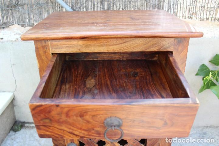 Antigüedades: ANTIGUA MESA MESITA O MESILLA AUXILIAR EN MADERA NOBLE Casa rustica o de madera - Foto 6 - 89076860