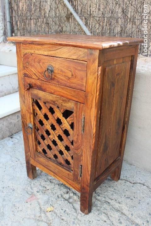 Antigüedades: ANTIGUA MESA MESITA O MESILLA AUXILIAR EN MADERA NOBLE Casa rustica o de madera - Foto 9 - 89076860