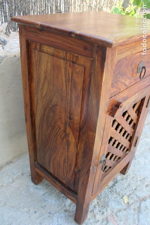 Antigüedades: ANTIGUA MESA MESITA O MESILLA AUXILIAR EN MADERA NOBLE Casa rustica o de madera - Foto 10 - 89076860