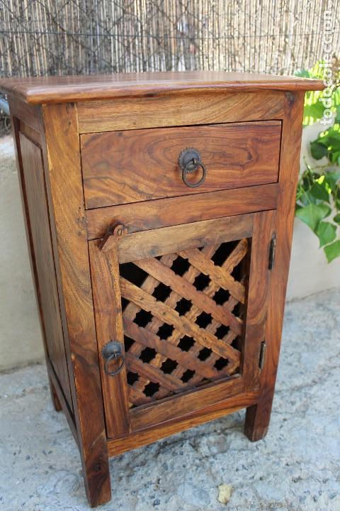 Antigüedades: ANTIGUA MESA MESITA O MESILLA AUXILIAR EN MADERA NOBLE Casa rustica o de madera - Foto 12 - 89076860