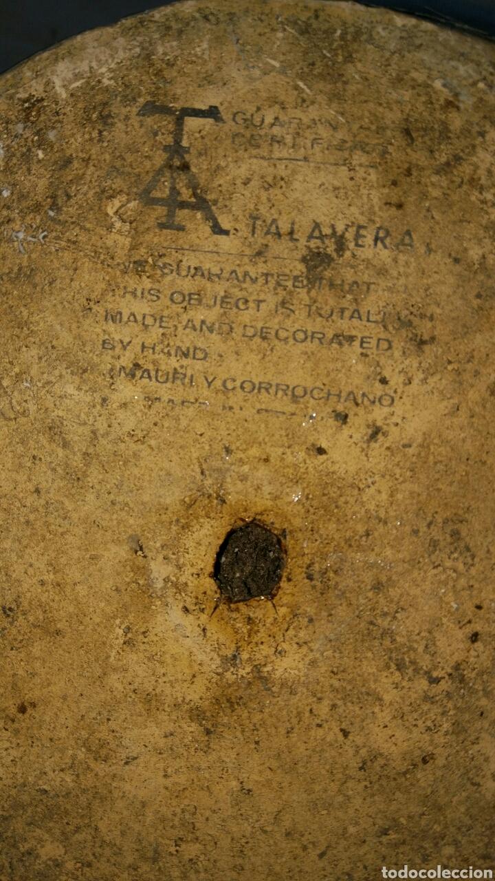 Antigüedades: Precioso y antiguo macetero de talavera pintado a mano por Mauri y Morrochano. - Foto 5 - 89092492