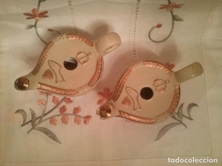 Antigüedades: Lamparillas votivas de barro. - Foto 2 - 89150200