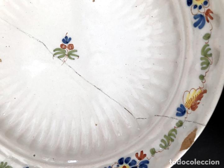 Antigüedades: FUENTE DE ALCORA - SERIE DEL RAMITO - MARCADA CON A - S.XVIII - Foto 5 - 39173034