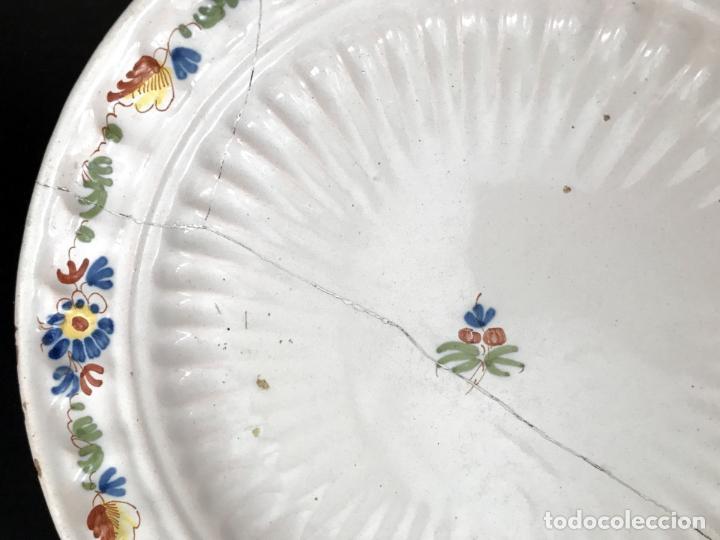 Antigüedades: FUENTE DE ALCORA - SERIE DEL RAMITO - MARCADA CON A - S.XVIII - Foto 8 - 39173034