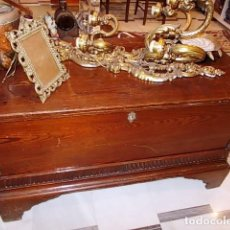 Antigüedades: ANTIGUO BAUL DE MADERA MACIZA PRINCIPIOS XX. SIN CARCOMA. Lote 89164204