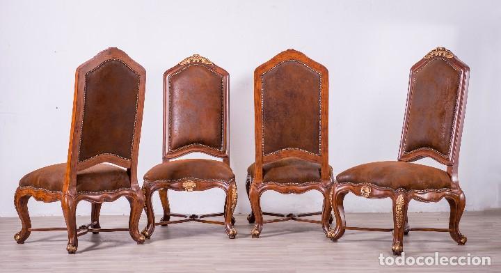 Antigüedades: Antiguo juego de sillas de diseño - Foto 2 - 89172364