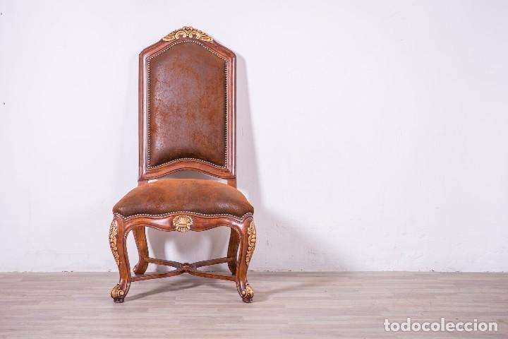 Antigüedades: Antiguo juego de sillas de diseño - Foto 3 - 89172364